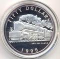 Маршалловы острова 50 долларов 1996. Поезд - SAR 520 Class