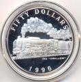 """Маршалловы острова 50 долларов 1996. Поезд - C62 """"Swallow"""""""