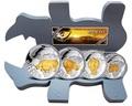 """Конго 400 франков 2013. Набор монет """"Большая пятерка"""". Носорог"""
