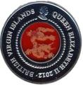Британские Виргинские острова 10 долларов 2012. Год Дракона.