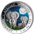 Сомали 100 шиллингов 2014. Слоны.