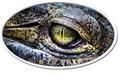 Ниуэ 2 доллара 2013. Глаз крокодила. Высокий рельеф