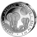 Сомали 100 шиллингов 2014.«Слоны» из серии «Дикая Африка»(High Relief).Арт.000220245605