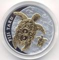 """Фиджи 2 доллара 2012.""""Морские Черепахи Таку""""(позолота).Арт.307741203"""