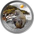 """Нигер 1000 франков 2013.""""Бабуин"""" серия """"Великолепные животные Африки"""".Арт.000345946663"""