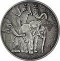 Габон 2000 франков 2013. «Слоны и слоненок».Арт.000345246964