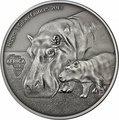 Конго Республика 2000 франков 2013.Бегемот c детенышем.Арт.001031446966/60