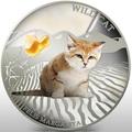 Фиджи 2 доллара 2013.Бархатная кошка - Дикая кошка серия Собаки и кошки.Арт.000358046376/60