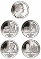 Британские Виргинские Острова 1 доллар 2013. Набор из 4-х монет. «400 лет династии Романовых». Арт.000127847246