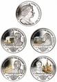 Британские Виргинские Острова 1 доллар 2013. Набор из 4-х монет(эмаль). «400 лет династии Романовых». Арт.000179047251
