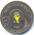 Британские Виргинские Острова 1 доллар 2012. «Футбол. Чемпионат Мира – Бразилия 2014».Арт.000044747261