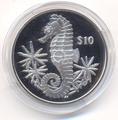 Британские Виргинские Острова 10 долларов 2014. «Морской конек».Арт.000210947211