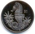 Британские Виргинские Острова 1 доллар 2014. «Морской конек».Арт.000032047231