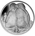 Британские Антарктические Территории 2 фунта 2013. «Птенцы Императорских пингвинов».Арт.000032047179