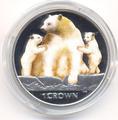 Остров Мэн 1 крона 2013. «Кермодский медведь и детеныши».Арт.000226947141
