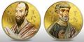 Ниуэ 2 доллара набор из 2 монет 2010. «Святые Апостолы Петр и Павел» серия «Православные Святыни».Арт.000664946404