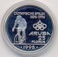 Аруба 25 флоринов 1995 Олимпиада Велоспорт.Арт.000123340409