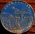 Либерия 5 долларов 2001. «Сражение за форт Самтер, Гражданска война».Арт.000035547506
