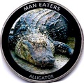 Уганда 100 шиллингов 2010. «Аллигатор» серия «Животные людоеды».Арт.000042447486
