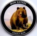 Уганда 100 шиллингов 2010. «Медведь Гризли» серия «Животные людоеды».Арт.000044747488