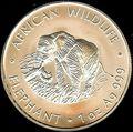 Замбия 4000 квач 1998. «Слон» серия «Дикая Африка».Арт.000105947492