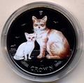 Остров Мэн 1 крона 2008. «Бурмилла и котенок»(эмаль) серия «Кошки».Арт.000044747086