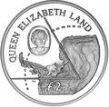 Британские Антарктические Территории 2 фунта 2013. «Земля Королевы Елизаветы».Арт.000026043616