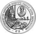 Британские Антарктические Территории 2 фунта 2012. Корабль – « Терра Нова», «100 лет экспидиции капитана Скотта».Арт.0000260443623