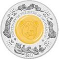 Сьерра Леоне 10 долларов 2010.Лев - 100 лет со дня рождения Джой Адамсон (кристалл).Арт.000235447286/60