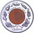 Фолклендские острова 1 крона 2012. Бабочка - Жизненный цикл бабочки (кристалл).Арт.000204642796/60