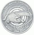Австралия 1 доллар 2013. Австралийский Морской Крокодил – Бинди.