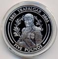 Гибралтар 5 фунтов 2005. Наполеон. 200 лет Трафальгарскому сражению.Арт.000110447676