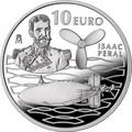Испания 10 евро 2013. «125 лет подводной лодке Исаака Перля».Арт.000191744041
