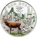 Острова Кука 2 доллара 2014. Благородный олень серия «Мир охоты».Арт. 000105647707
