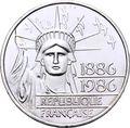 Франция 100 франков 1986. 100 лет статуи Свободы.Арт.000370547843