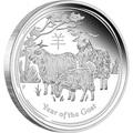 Австралия 1 доллар 2015. Лунный календарь – Год Козы.