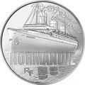 Франция 10 евро 2014. Корабль «Нормандия» - серия Великие корабли Франции.Арт.000100048483