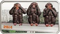 Танзания 1000 шиллингов 2014.Три обезьяны.Арт.000100048833