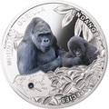 Ниуэ 1 доллар 2014.Обезьяна-Горная Горилла – серия Вымирающие виды животных.Арт.000301349086