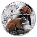 Ниуэ 1 доллар 2014.Лемур-Рыжий Вари – серия Вымирающие виды животных.Арт.000301349088