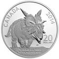 Канада 20 долларов 2014.Динозавр – Ксеноцератопс серия Канадские динозавры.Арт.000281748309