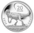 Канада 20 долларов 2014.Динозавр – Скутеллозавр серия Канадские динозавры.Арт.000260445725