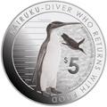 Новая Зеландия 5 долларов 2014.Пингвин Кайруку.Арт.000332348589