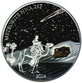 Либерия 10 долларов 2004.Метеорит NWA 267.