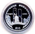 Британские Виргинские Острова 10 долларов 2002. «11 сентября».