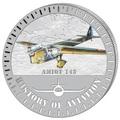 Бурунди 5000 франков 2015. Самолет - «Амио 143» серия «История авиации».