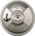 Конго 10 франков 2005.Морской календарь на 50 лет.
