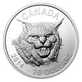 Канада 25 долларов 2014.Рысь (ультра-высокий рельеф).