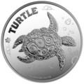 Ниуэ 2 доллара 2014.Черепаха Хоксбилла (блистер).