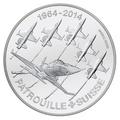 Швейцария 20 франков 2014.Патруль Сюисс (Patrouille Suisse).Самолеты.Арт.000393050465/60